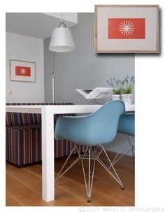 DAR by Charles Eames for Herman Miller/Vitra 6901&7150 by Scholten for Gelderland Tolomeo Mega by Michele De Lucchi & Giancarlo Fassina for Artemide