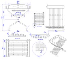 Medieval chair plan - Assembly 2D drawing
