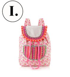pom pom  backpack #fashion #trend #summer #2014