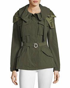 9cf3bb6b6d9 Moncler Designer Sodalite Safari Belted Jacket Utility Jacket