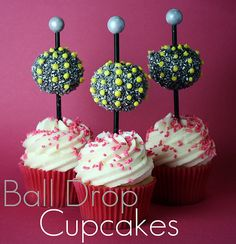 New Years ball drop cupcakes
