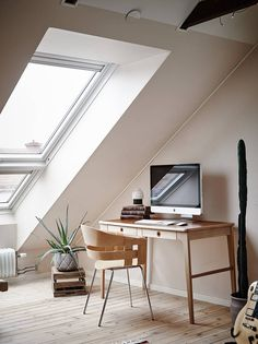 Lovely attic workspace