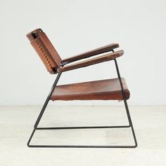 Rare Studio Furniture Chair With Heavy Saddle Leather | From A Unique  Collection Of Antique And Modern Lounge Chairs At ...