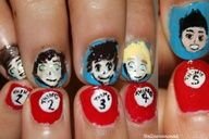 Think youre obsessed with One Direction? Check out these crazy One Direction Nail Art Pictures, Tumblr Photos of 1D Nail Designs | Teen.com