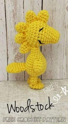 Woodstock Amigurumi free crochet pattern. Woodstock is standing at 15cm. A easy project for Snoopy and Woodstock lovers