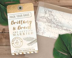 Luggage Tag Save the Date Destination Wedding Save the Date