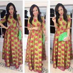 Red Star Dashiki Maxi Skirt, African Clothing; African fashion; African Print…