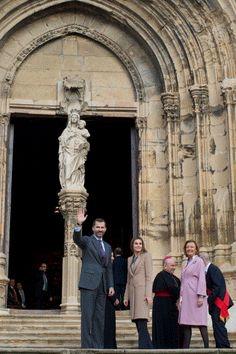 Prince Felipe and Princess Letizia of Spain visit Caspe village on 7 Nov 2012 in Caspe