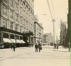 Salina and Fayette looking east 1899
