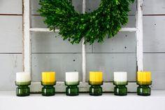 6 Dansk Jens Quistgaard Green Glass Candleholders by FernHillRd
