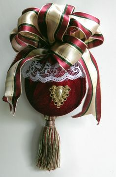 Elegant Victorian Christmas Ornament by VictorianSistersShop