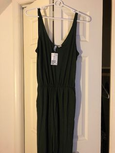 H/&M Strappy Playsuit Jumpsuit All in one Long Wide Leg Size 14 EUR 40 NEW NWT