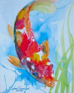 Nishiki-goi Koi Carp Painting - Koi Fish 1 - Koi and Goldfish Watercolor Paintings - Gallery - KoiFreaks.com Forums