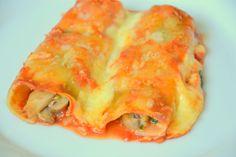 O meu bem estar: Cannelloni de espinafres, cogumelos e queijo