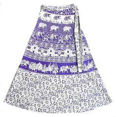 indian elephant print wrap-around skirt.