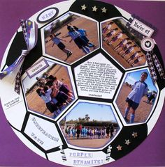 LOVE THIS IDEA!!! Awesome soccer scrapbooking layout for my bros soccer pictures back in the day