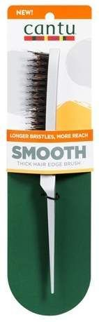 Cantu Smooth Thick Hair Edge Brush - Adult Unisex, Black - Women Style World Quick Hairstyles, Ponytail Hairstyles, Hair Ponytail, Angled Haircut, Thick Coarse Hair, Best Hair Salon, Boar Bristle, Coily Hair, Sleek Ponytail