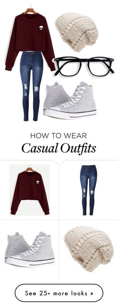 """Casual"" by nuffy-the-alpaca on Polyvore featuring Converse and The North Face"