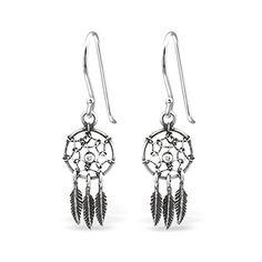 5601ba272 ICYROSE Earring 925 Sterling Silver Hypoallergenic Dream Catcher Fishhook  Earrings for Girls 31297
