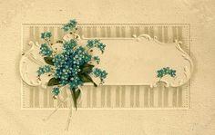 Little Birdie Blessings: Free vintage postcard ~ blank frame
