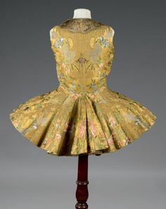 Ladies waistcoat or hunting caraco ca. 1720-40. From Thierry de Maigret