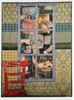 A Room With a View, 109 x 82 cm, 2003 Textile Art, Quilts, Blanket, Bed, Room, Bedroom, Stream Bed, Quilt Sets, Quilt