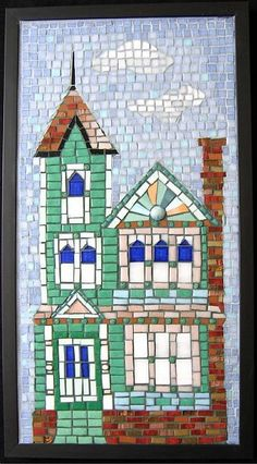 mosaic art gallery | Painted Lady (Sold) - by Pauline Gallagher from Mosaics Art Gallery