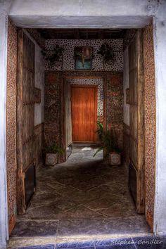 Doorway in Tarifa, Andalusia_ Spain