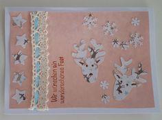 DIY-Party Stamping Weihnachtskarte Elch
