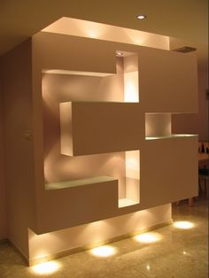 home furnishings ideas Built In Furniture, Home Decor Furniture, Home Furnishings, Wall Shelves Design, Wall Design, House Design, Niche Design, Partition Design, False Ceiling Design