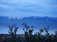 The Splendid Beach Agona with the beautiful view of Evia...