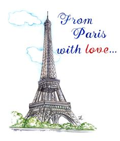From Paris with Love illustration features Eiffel tower