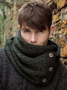 TWEED DETAILED SNOOD WITH BUTTONS T26