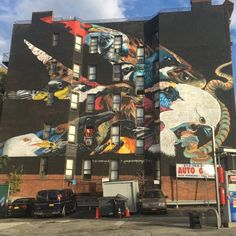 This Harlem building has been given the Lunar New Year treatment, decorated with a striking mash-up of birds all joined into an avian composition.