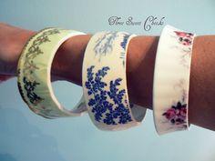 Create Your Own- Custom Made China Tea Cup Bracelet. $59,00, via Etsy.