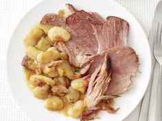 Slow-Cooked Ham and Beans Recipe : Food Network Kitchen : Food Network - FoodNetwork.com