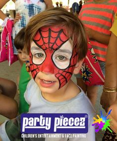 Spiderman face painting. Superhero party designs like batman and the hulk too for birthday parties and fairs etc.  Sydney - Australia - http://partypiecez.com.au