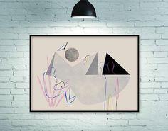 Art print, print, prints, horizontal art print, wall art print, large art print, minimalist print, minimalist art print, geometric art print