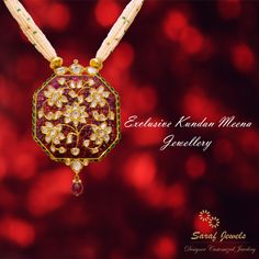 """""""In-Trend"""" exclusive collection of Kundan - Meena Jewellery at Jaipur Showroom of Saraf Jewels. We also deal in customized jewellery. Your Thoughts, Our Implementation!! For queries; Call: 0141-4026333 or Whatsapp: +91 9829055333  #kundan #kundanjewellery #kundanmeena #finejewellery #jewellery #gold #pendat #necklace #kundannecklace #kundanpendant #jaipur #India"""