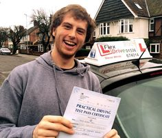 Driving Lessons in Kettering and Rushden:  Congratulations to James Tobin who passed his practical Driving Test today the 17th November 2015 and with only 2 Driving Faults. Very well done and best wishes from your Driving Instructor Steve and all of us here at Flexdrive Driving School.