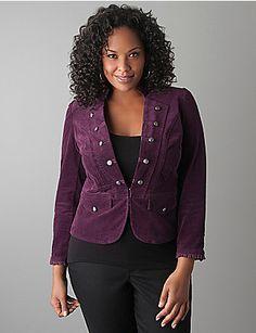 bb2626a5915 Corduroy military blazer by Lane Bryant Plus Fashion