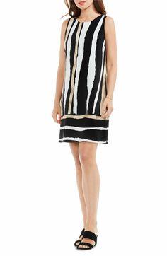 Vince Camuto Linear Terrain Shift Dress (Regular & Petite)
