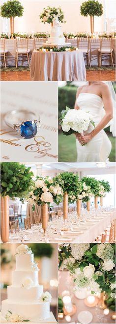 Green and Gold Florida Wedding reception idea; featured photographer: Hunter Ryan Photography