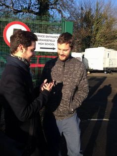 Jamie Dornan with @JamieDornan_org in Belfast while filming The Fall. The photo was taken by @miss_steele89 . December 10th, 2015 http://everythingjamiedornan.com/gallery/thumbnails.php?album=36 https://www.facebook.com/everythingjamiedornan/