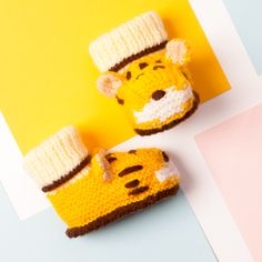 Tiger booties! I think all babies need these this winter!