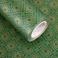 """Roll Gift Wrapping Paper Chrysanthemum Green 20.8"""" x (L) 32Ft #Unbranded…"""