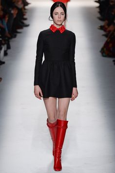Valentino Fall 2014 RTW - Runway Photos - Fashion Week - Runway, Fashion Shows and Collections - Vogue- those boots!!!!!