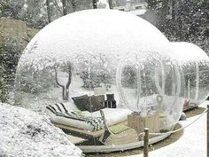 Real life snow globe