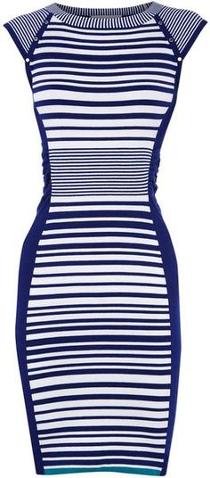 I have a stripe problem...  Karen Millen, Striped Knit Collection Dress