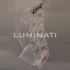 87890c707be Clear acrylic glasses display stand with braded header. Designed and  manufactured in the UK Pos